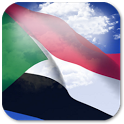 3D Sudan Flag Live Wallpaper + icon