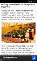 Screenshot of Myanmar News