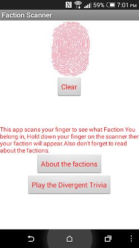 Faction Scanner for Divergent