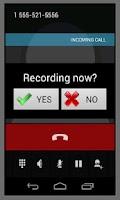 Screenshot of Call & general recording