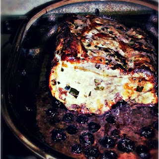 Red Wine and Blueberry Roast Pork.