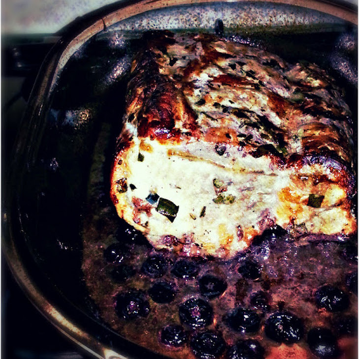 Red Wine and Blueberry Roast Pork Recipe