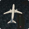 Airplane Night Flight Time Sim 1 icon