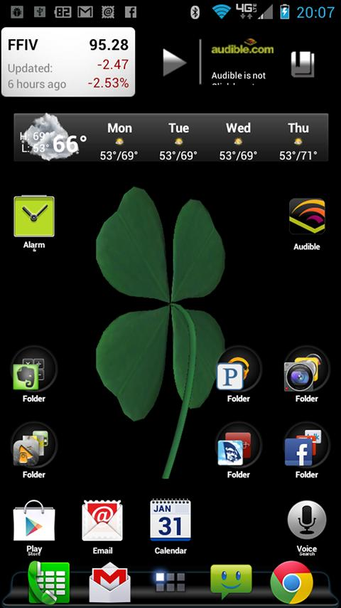 FourLeaf Clover Live Wallpaper- screenshot