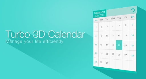 3D Calendar _Turbo EX widget
