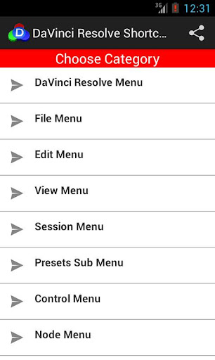 DaVinci Resolve Shortcuts
