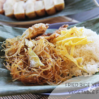 Fried Rice Vermicelli + Vegetable Fritters.