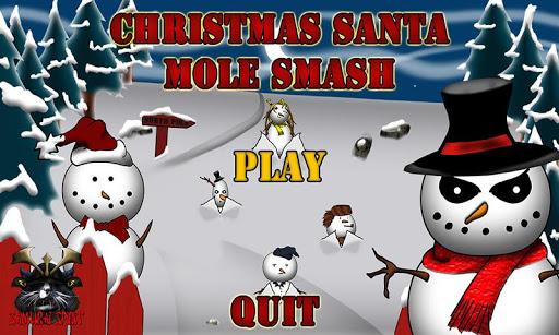 Christmas Santa Mole Smash