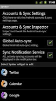 Screenshot of Synker Widget Unlock Key