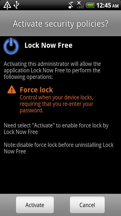 Lock Now Free - screenshot