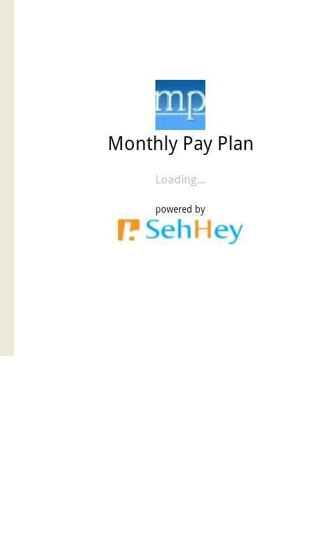 Monthly Payment Plan- screenshot