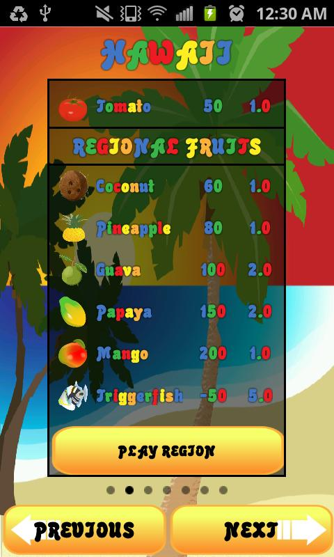 Catch The Fruits - screenshot