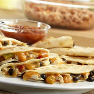 Campbell's Kitchen Chicken and Black Bean Quesadillas.
