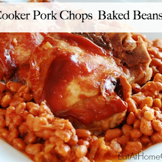 Slow Cooker Pork Chops and Baked Beans.