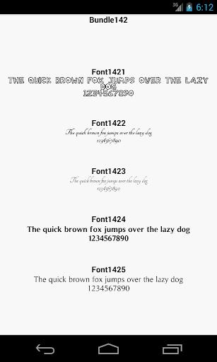 Fonts for FlipFont 142