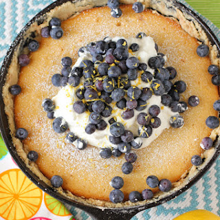 Lemon Blueberry Gooey Butter Cake