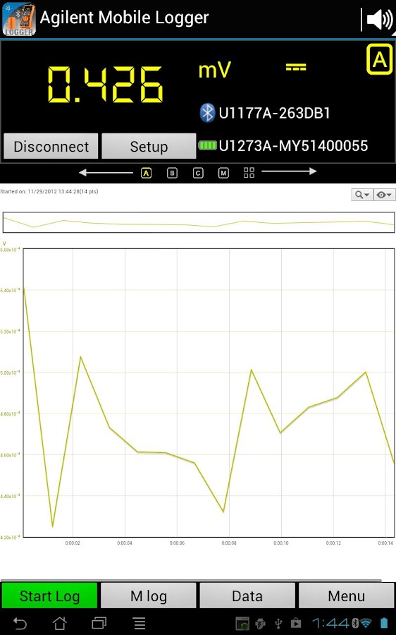 Agilent Mobile Logger - screenshot
