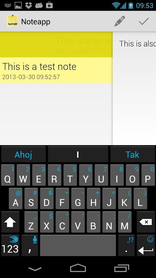 Noteapp - screenshot