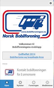 Norsk Bobilforening - screenshot thumbnail