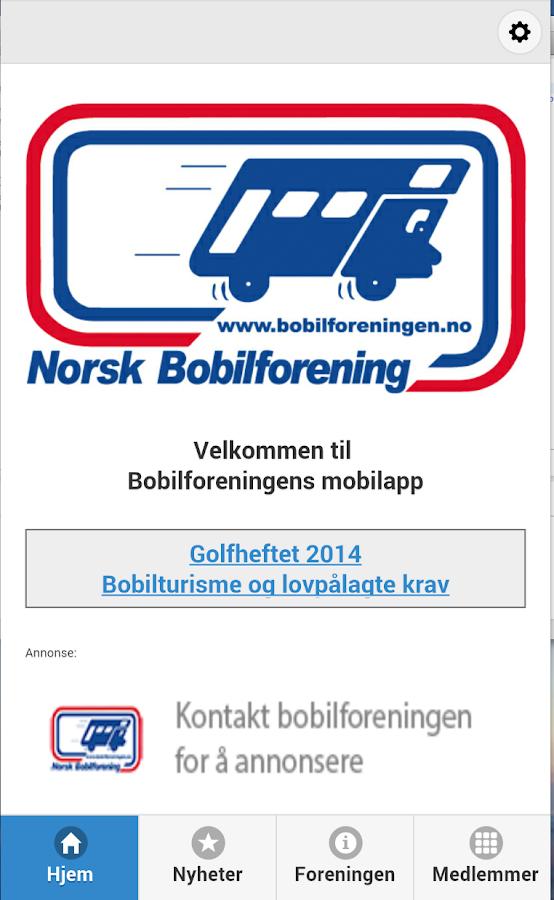Norsk Bobilforening - screenshot
