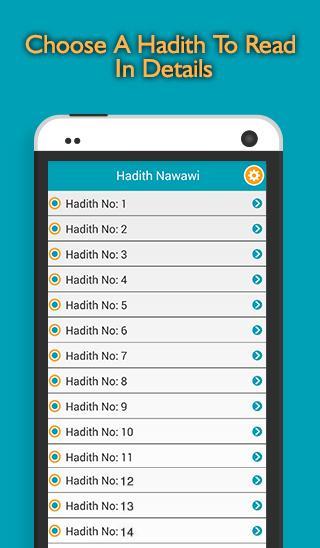 40 Hadith Nawawi - screenshot