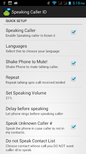 Speaking Caller