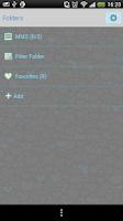 Screenshot of GO SMS Blue Pony 2 Theme