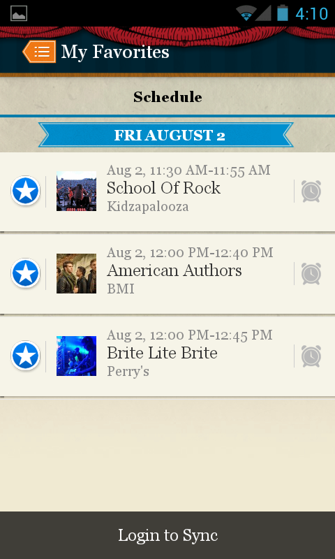 Lollapalooza Official App - screenshot