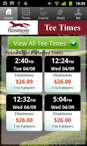 Fitzsimons Golf Tee Times