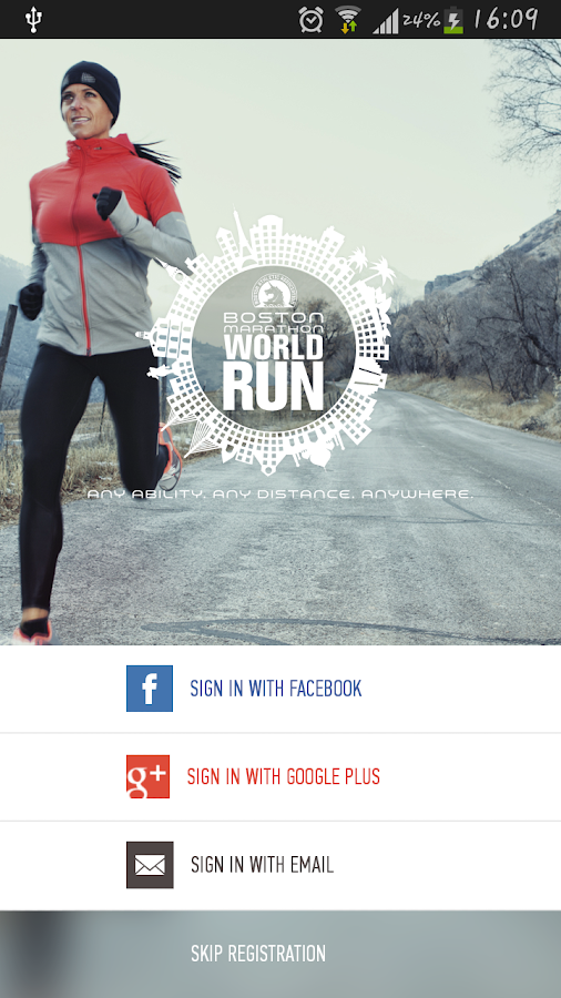 Boston Marathon World Run- screenshot