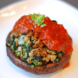 Sausage and Spinach Stuffed Portobello Mushrooms
