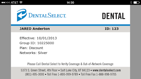 Dental Select Mobile ID- screenshot thumbnail