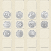 CUKI Theme Silver Coin Icon