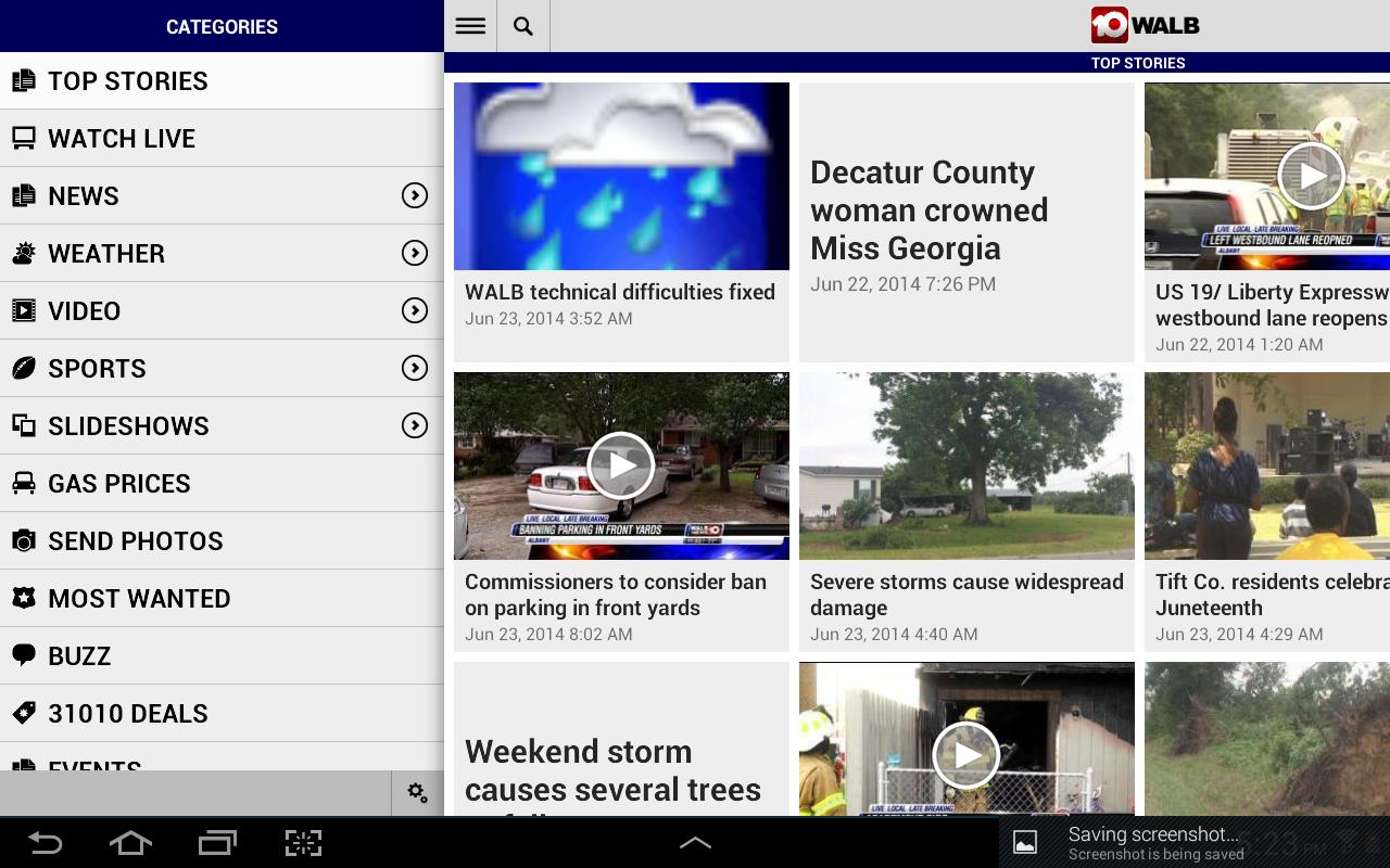 WALB News 10 - screenshot
