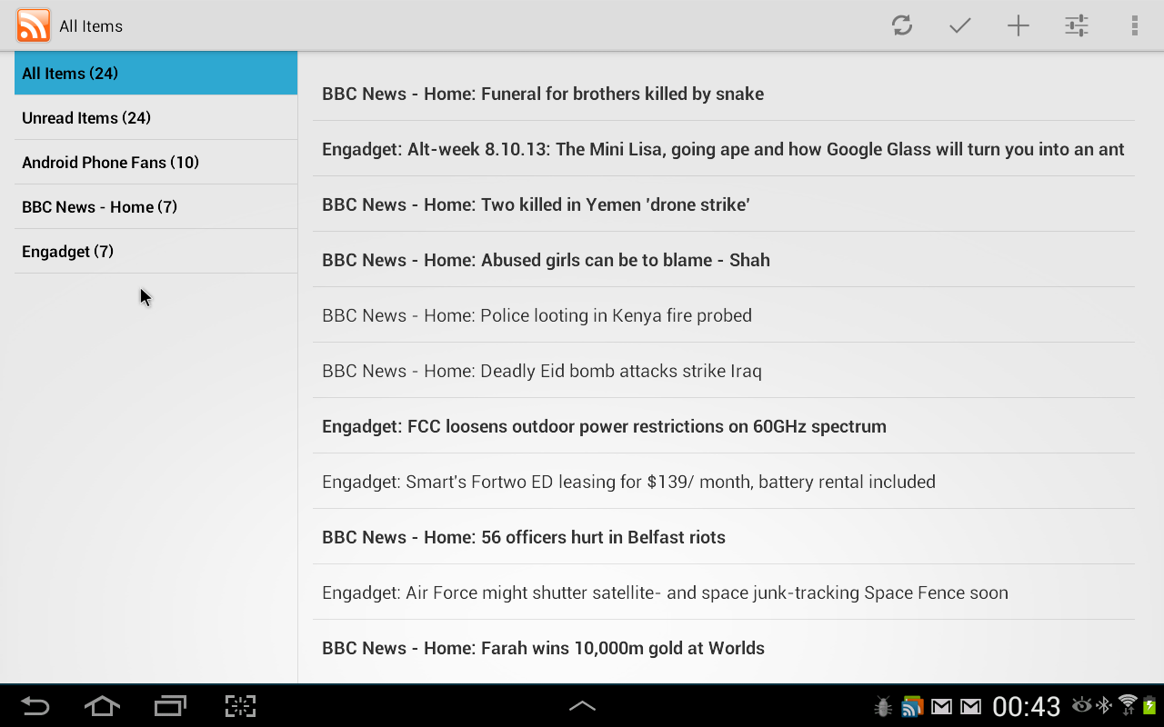 SimpleRSS (rss / feed reader)- screenshot