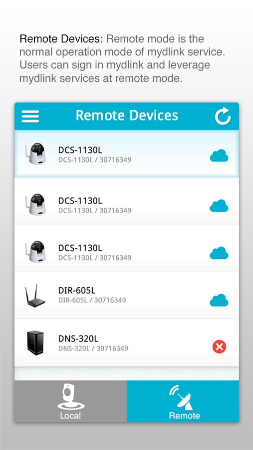 mydlink Lite - screenshot