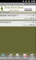 Screenshot of Burr Ridge Bank Mobile Banking