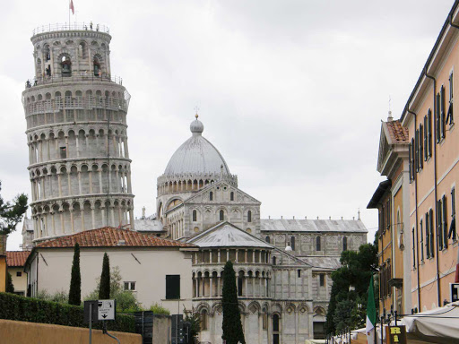 tower-pisa-italy-1 - Built in the 1300s, the famed Tower of Pisa in Italy reaches 184 feet at its zenith.