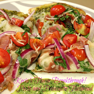Pesto and Prosciutto Flat Bread Pizza's!