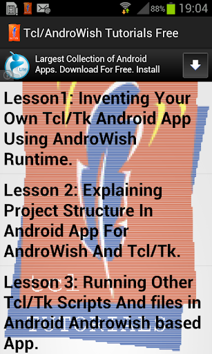 Tcl AndroWish Tutorials Free