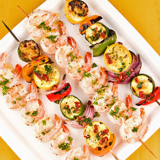 Tuscan Shrimp and Vegetable Kabobs