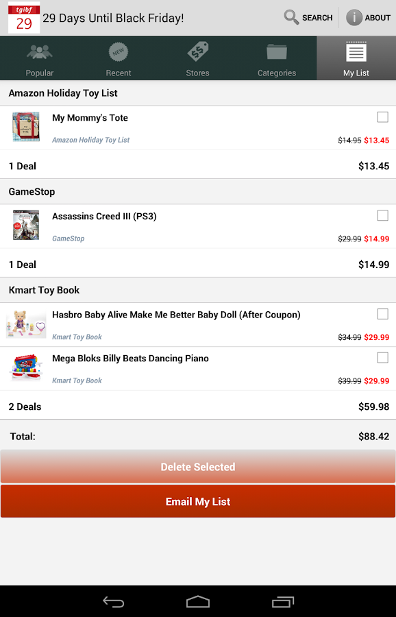 TGI Black Friday - 2014 - screenshot