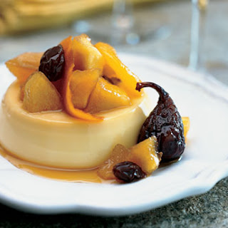 Lemon Flan with Autumn Fruit Compote