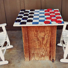 Children's Checkers by Regina Watkins - Artistic Objects Furniture (  )