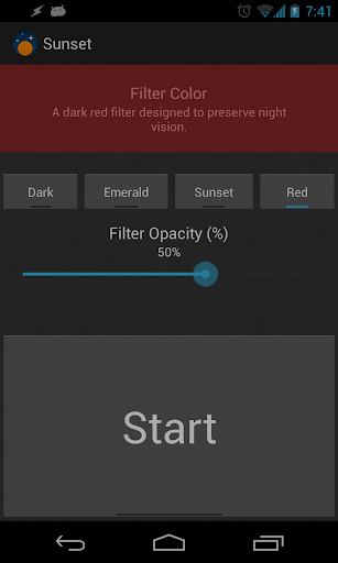 Sunset - Screen Filter