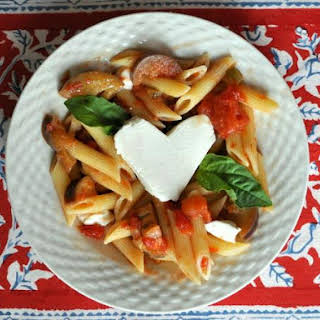 Penne with Eggplant and Mozzarella.