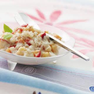 Apple Cinnamon Rice Pudding.