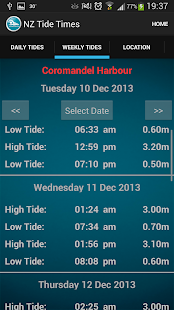 New Zealand Tide Times - screenshot thumbnail