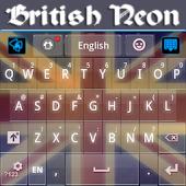 App British Neon Theme GO Keyboard APK for Windows Phone