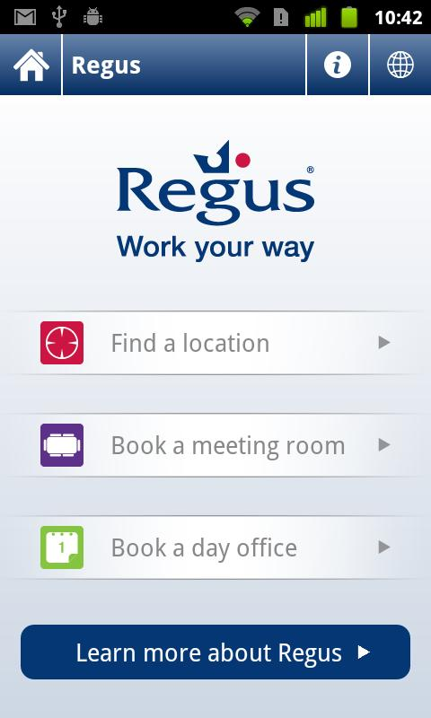 Regus - screenshot